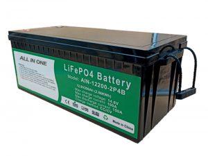 ALL IN ONE 2.56KWh 2000 jaksoa 12v akun lifepo4 200ah litiumpaketti sähköajoneuvoille