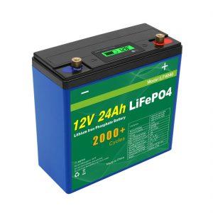 Solar Deep Cycle 24v 48v 24ah Lifepo4 -akku UPS 12v 24ah -akku