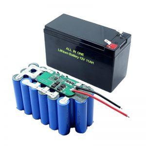 ALL IN ONE 18650 3S5P 12 voltin litiumakku 11Ah ladattava litiumakku