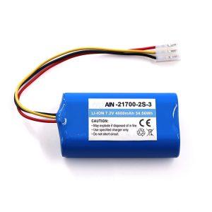 Litiumparisto taskulampulle OEM 21700 7.2V 4800mAh Li-ion Pack